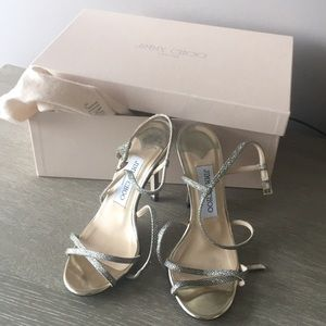 Jimmy Choo - Lame Glitter  Sandal Size 4.5